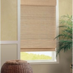 B. Smith - B. Smith Cali Natural Roman Cordless Bamboo Shade - The natural, classic design of this bamboo shade brings instant style to your surroundings. The cordless shade gently filters light, creating a soft atmosphere in any room, while the cordless design offers a clean look with ease of use.