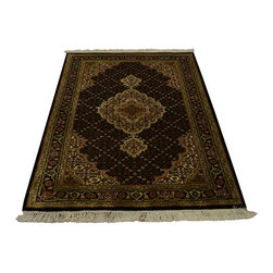 1800GetARug - Oriental Rug Wool and Silk Tabriz Mahi Hand Knotted Rug Sh13136 - About Wool Pile