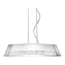 Kolarz - Top quality from Vienna - Kolarz - Top quality from Vienna Saba Barca pendant lamp large - Saba Barca pendant lamp large is part of a collection of High End light fixtures made in Vienna, Austria by Kolarz. This light series is designed by artistique minds using the finest materials, metal and glass, beeing a unique creation and fashioned to reflect individual personality and lifestyle. Saba Barca consists of a framework hanging from the ceiling with its shape representing an ancient boat used in Florence in the 1400s. Its diffuser is made of two pieces of satinated white glass hand-decorated with beautiful square spirals. The fixture comes in two versions of finishes, chrome plated with silver decorations and 24k gold plated with gold decorations. Combining its distinctive design with the highest quality of its materials the suspension light is a luxury path for both commercial and residential interiors. Illumination is provided by R7s 118mm, 200W Halogen bulb (not included).      Product Details: Saba Barca pendant lamp large is part of a collection of High End light fixtures made in Vienna, Austria by Kolarz. This light series is designed by artistique minds using the finest materials, metal and glass, beeing a unique creation and fashioned to reflect individual personality and lifestyle. Saba Barca consists of a framework hanging from the ceiling with its shape representing an ancient boat used in Florence in the 1400s. Its diffuser is made of two pieces of satinated white glass hand-decorated with beautiful square spirals. The fixture comes in  two versions of finishes, chrome plated with silver decorations and 24k gold plated with gold decorations. Combining its distinctive design with the highest quality of its materials the suspension light is a luxury path for both commercial and residential interiors. Illumination is provided by R7s 118mm, 200W Halogen  bulb (not included). Details:                         Manufacturer:            Kolarz          