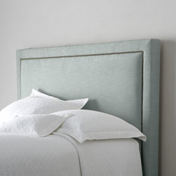 """Bernhardt - Bernhardt Eastman California King Headboard - Sleek upholstered headboard is finished with nailhead trim for a bit of interest. Handcrafted. Polyester upholstery on hardwood frame. Select color when ordering. Finished back. Drilled for metal bed frame. Twin, 46.5""""W x 4""""D x 47.75""""T. Boxed wei..."""