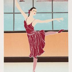 Gina Lombardi Bratter, Solitary Dancer, Lithograph - Artist:  Gina Lombardi Bratter, American