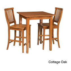 None - Arts and Crafts 3-piece Bistro Set - Mission styling at its best! The Arts and Crafts 3-piece Bistro Set is an economical solution capable of adapting to a variety of settings.