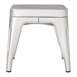 Home Decorators Collection - Little Garden Stool - Our Little Garden Stool is your child's very own seat, indoors and out. It's easy to move this lightweight aluminum kids chair. Lightweight aluminum construction. Your choice of finish.