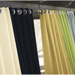 Ballard Indoor/Outdoor Curtains - Outdoor curtains can completely change the atmosphere of an outdoor space or room.  They soften the space and give it a sense of luxury.  The best part is watching them sway in and out in the gentle breezes.