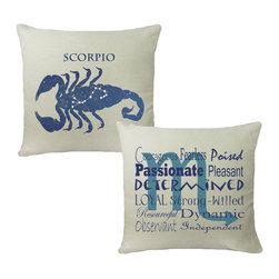 RoomCraft - Scorpio Zodiac Throw Pillow Cover Set - 16x16 White - FEATURES: