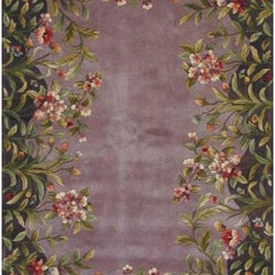 KAS Oriental Rugs - Emerald Lavender Garden  Rectangle: 5 Ft. 3 In. x 8 Ft. 3 In. Rug - - 12mm pile height  - No fringe KAS Oriental Rugs - EME900653X83