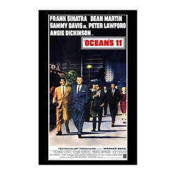 Oceans 11 27 x 40 Movie Poster - Style A - Oceans 11 27 x 40 Movie Poster - Style A Frank Sinatra, Dean Martin, Sammy Davis Jr., Angie Dickinson, Peter Lawford, Richard Conte, Cesar Romero, Joey Bishop, Akim Tamiroff, Henry Silva, Buddy Lester, Norman Fell, Red Skelton, Shirley MacLaine, George Raft. Directed By: Lewis Milestone. Written By: Harry Brown, Charles Lederer. Cinematography By: William H. Daniels. Music By: Nelson Riddle.