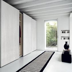 "Custom Made Closets with Sliding Doors - Contemporary closet with ""Dover"" sliding doors"