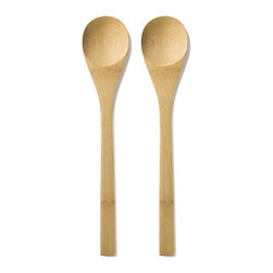 Bambu - Bambu Give It A Rest Bamboo Spoon , 2 pack - Wooden spoons are handy in the kitchen and useful for prepa a large number of dishes, but after you've used your wooden spoon, its wet, messy end is prone to leaving drips on your counter tops, causing headaches when it's time to clean up..