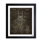"""The Oliver Gal Artist Co. - 'Batman 1992' Framed Art - Exclusive blueprints inspired by real vintage patent drawings & illustrations. Handcrafted in the Oliver Gal Artist Co. Studios in Miami, Florida. Produced on matte proofing paper and hand framed by professional framers in a 1.2"""" premium black wood frame. Perfect for any interior design project, gifts, office décor, or to add special value to one of your favorite collections."""