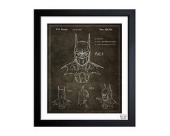 "The Oliver Gal Artist Co. - 'Batman 1992' Framed Art - Exclusive blueprints inspired by real vintage patent drawings & illustrations. Handcrafted in the Oliver Gal Artist Co. Studios in Miami, Florida. Produced on matte proofing paper and hand framed by professional framers in a 1.2"" premium black wood frame. Perfect for any interior design project, gifts, office décor, or to add special value to one of your favorite collections."