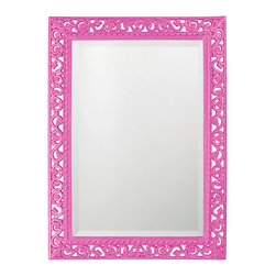 Howard Elliott - Howard Elliott Rectangle Bristol Glossy Hot Pink Mirror - Rectangle Bristol glossy hot pink mirror