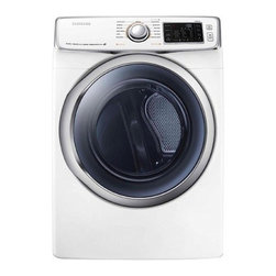 Samsung - DV45H6300EW 7.5 Cu. Ft. Capacity Front Load Electric Dryer with Eco Dry Technolo - The DV45H6300EW 75 cu ft capacity dryer lets you dry 3 laundry baskets in a single load it features Super Capacity with Ego Dry technology It also features steam dry which helps eliminate odors and keeps clothes fresh this dryer also has a Vent Senso...