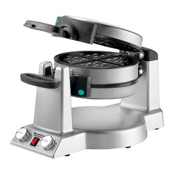 Waring Pro - Waring Pro Breakfast Express 1400-Watt Belgian Waffle and Omelet Maker - Makes 1 Belgian waffle and an omelet at the same time