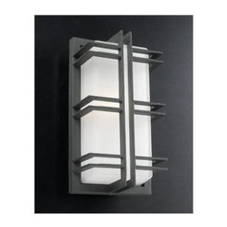 PLC Lighting - PLC Lighting PLC 8012 Single Light Outdoor Wall Sconce from the Gulf Collection - PLC Lighting PLC 8012 Contemporary / Modern Single Light Outdoor Wall Sconce from the Gulf CollectionSince 1989, PLC Lighting, Inc. has continued to provide our customers with both contemporary and traditional lighting fixtures in a multitude of styles. Their products can be found in showrooms throughout North, Central and South America, as well as the Caribbean Islands. They furnish the finest residences, hotels, restaurants, and office complexes all over the world.Features: