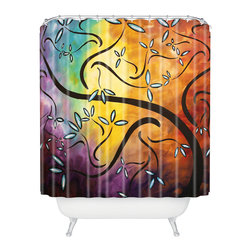 DENY Designs - madart inc Sweet Blossom Shower Curtain - Who says bathrooms can't be fun? To get the most bang for your buck, start with an artistic, inventive shower curtain. We've got endless options that will really make your bathroom pop. Heck, your guests may start spending a little extra time in there because of it!