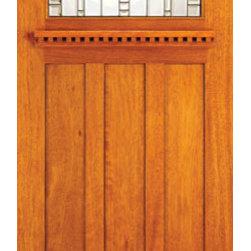 """Mahogany Craftsman Style Entry Doors for Arts and Crafts Home - SKU#AC-701-A_1BrandAAWDoor TypeExteriorManufacturer CollectionArts and Crafts Front DoorsDoor ModelDoor MaterialWoodgrainVeneerPrice370Door Size Options30"""" x 80"""" (2'-6"""" x 6'-8"""")  $036"""" x 80"""" (3'-0"""" x 6'-8"""")  +$54042"""" x 80"""" (3'-6"""" x 6'-8"""")  +$78036"""" x 84"""" (3'-0"""" x 7'-0"""")  +$54042"""" x 84"""" (3'-6"""" x 7'-0"""")  +$78036"""" x 96"""" (3'-0"""" x 8'-0"""")  +$82042"""" x 96"""" (3'-6"""" x 8'-0"""")  +$1020Core TypeDoor StyleCraftsman , MissionDoor Lite Style1 LiteDoor Panel Style3 PanelHome Style MatchingCraftsman , Prairie , Bungalow , Mission , Arts and CraftsDoor ConstructionPrehanging OptionsPrehung , SlabPrehung ConfigurationSingle DoorDoor Thickness (Inches)1.75Glass Thickness (Inches)3/4Glass TypeTriple GlazedGlass CamingBlackGlass FeaturesBeveled , Tempered , InsulatedGlass StyleArt GlassGlass TextureGlass ObscurityDoor FeaturesDoor ApprovalsFSCDoor FinishesDoor AccessoriesWeight (lbs)340Crating Size25"""" (w)x 108"""" (l)x 52"""" (h)Lead TimeSlab Doors: 7 daysPrehung:14 daysPrefinished, PreHung:21 daysWarranty"""