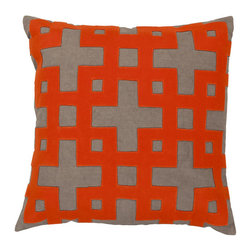 Anika Throw Pillow - Add energy and geometric pop to the room with this Anika Throw Pillow. It's a playful pillow that pops from any background, yet won't distract from the dramatic elements of your romcom or indie flick. Made from 100% cotton.