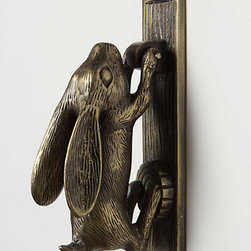 Anthropologie - Swinging Hare Door Knocker - We've all seen the traditional lion door knocker, but how about being a little sweeter with this iron rabbit? You can't get much cuter than this!