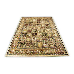 Rug - ~5 ft. x 8 ft. Authentic Persian Beige Modern Living Room Area Rug - (Machine Made) MONA LISA COLLECTION: