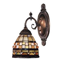 Elk Lighting - Elk Lighting 071-TB-10 Mix-N-Match Traditional Wall Sconce - Mix-N-Match 1-Light Sconce In Tiffany Bronze