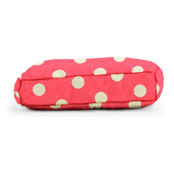 """Comfort Research - Wuf Fuf Oxygen Candy Pink with White Dot Twill Pet Bed (24"""" x 18"""") - Woof! Bark! Ruff, ruff, ruff!"""" That's pet language for, """"The Wuf Fuf Pet Bed Collection is the stylish, comfortable way for me to mark my territory! It's more durable than a chew toy, softer than my owner's lap and more fashionable than this dog collar I'm forced to wear. Now excuse me, but I smell food!"""