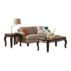 Standard Furniture - Standard Furniture St. James 3-Piece Rectangular Coffee Table Set - St. James tables are designed for today's traditional home with their classy details and beautiful veneer patterns.