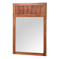 "Foremost - Foremost Knoxville 34 x 24 Poplar Framed Vanity Mirror, Nutmeg (KNCM2434) - Foremost KNCM2434 Knoxville 34"" x 24"" Poplar Framed Vanity Mirror, Nutmeg"