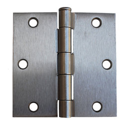 "GlideRite - GlideRite 3.5"" x 3.5"" Square Corner Satin Nickel Door Hinges (Pack of 12) - Update the look of your doors with this convenience 12 pack of interior residential door hinges from GlideRite Hardware."