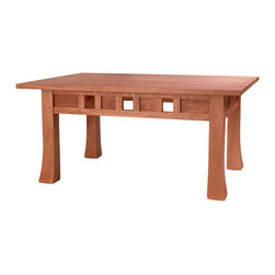 NePalo Cabinetmakers - Cherry Coffee Table - This Asian inspired craftsman coffee table is made using morise and tenon construction with over 50 wood on wood joints.