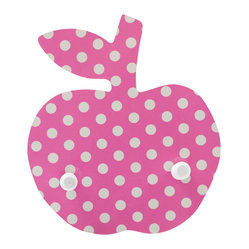 Polka Dots Apple Coat Rack