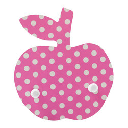 Pakhuis Oost - Polka Dots Apple Coat Rack - An apple a day keeps the mess away. Hang one of these racks at kiddo height to keep coats, hats, purses or jump ropes handy and organized. Each homemade rack comes in your choice of hot pink or apple red with white polka dots.