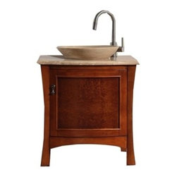 Virtu USA 'Duiberg' 26-inch Antique Honey Cherry Bathroom Vanity Set -