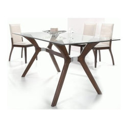 Chintaly Luisa 5 Piece Rectangular Dining Table Set - Your dining room may just become your favorite space in the house when you have the Chintaly Luisa 5 Piece Rectangular Dining Table Set. The sleek beauty of the wood and glass table features a striking contrast. Simple and modern chairs in a soft cream upholstery beautifully complement the look.About Chintaly ImportsBased in Farmingdale, New York, Chintaly Imports has been supplying the furniture industry with quality products since 1997. From its humble beginning with a small assortment of casual dining tables and chairs, Chintaly Imports has grown to become a full-range supplier of curios, computer desks, accent pieces, occasional table, barstools, pub sets, upholstery groups and bedroom sets. This assortment of products includes many high-styled contemporary and traditionally-styled items. Chintaly Imports takes pride in the fact that many of its products offer the innovative look, style, and quality which are offered with other suppliers at much higher prices. Currently, Chintaly Imports products appeal to a broad customer base which encompasses many single store operations along with numerous top 100 dealers. Chintaly Imports showrooms are located in High Point, North Carolina and Las Vegas, Nevada.