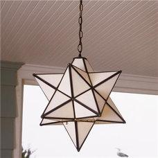 Superior Moravian Star Hanging Light - Damp Location - Shades of Light