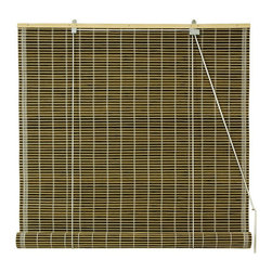 Oriental Furniture - Burnt Bamboo Roll Up Blinds - Olive Green 72 Inch, Width - 72 Inches - - Burnt bamboo roll up blinds are a versatile addition to any window.  They will fit in with any decor and are available in a wide variety of sizes.   Easy to hang and operate.  Available in five sizes, 24W, 36W, 48W, 60W and 72W.  All sizes measure 72 long. Oriental Furniture - WT-YJ1-8B6-3-72W