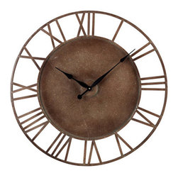 "Sterling Industries - Sterling Industries 128-1002 31.5"" Height Metal Roman Numeral Outdoor Wall Clock - Specifications:"