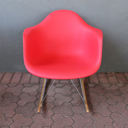 wing rocking chair - red - please e-mail us at info@redinfred.com for more information + purchasing availability