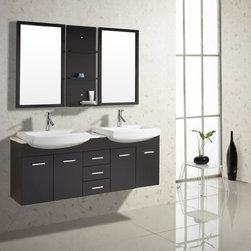 Virtu USA Ophelia 59-inch Single Sink Bathroom Vanity Set -