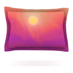 """Kess InHouse - Michael Sussna """"Yosemite Dawn"""" Pink Orange Pillow Sham (Cotton, 40"""" x 20"""") - Pairing your already chic duvet cover with playful pillow shams is the perfect way to tie your bedroom together. There are endless possibilities to feed your artistic palette with these imaginative pillow shams. It will looks so elegant you won't want ruin the masterpiece you have created when you go to bed. Not only are these pillow shams nice to look at they are also made from a high quality cotton blend. They are so soft that they will elevate your sleep up to level that is beyond Cloud 9. We always print our goods with the highest quality printing process in order to maintain the integrity of the art that you are adeptly displaying. This means that you won't have to worry about your art fading or your sham loosing it's freshness."""
