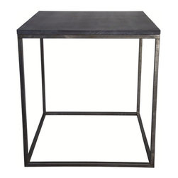 NOIR - NOIR Furniture - Landon Side Table with Stone - GTAB344ST - Features: