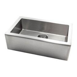 Pegasus - Pegasus Apron Single Large Bowl Kitchen Sink, Stainless Steel (AP1033) - Pegasus AP1033 Apron Single Large Bowl Kitchen Sink, Stainless Steel