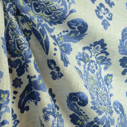 Waverly - Gypsy Charm Ceramic Waverly Damask Fabric By The Yard - Gypsy Charm in the color ceramic is a Waverly Fabric. This great Damask Pattern is made on linen and rayon based fabric. Great for light upholstery, bedding and window treatments.