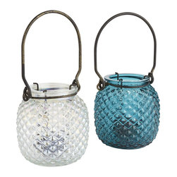 Hanging Tea Light Lanterns - Hanging tea light lanterns can add another layer of ambience to your outdoors. A few scattered on the tables would be interesting too.