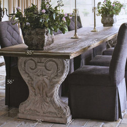 Outdoor Tables (Mediterranean Style) - Product: Outdoor Stone Table
