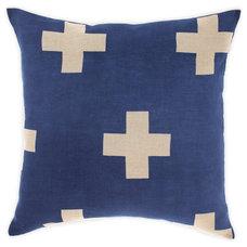 Crosses Cushion in Marine 50cm