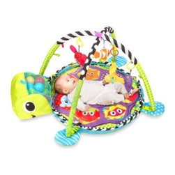"""Infantino - Infantino Grow-With-Me Activity Gym & Ball Pit - Your child will have a """"ball"""" with this action-packed activity gym and ball pit. This adorable gym is in the shape of a sea turtle and features four sea pals for your child to fall in love with."""