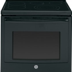 """GE - JB750DFBB 30"""" Free-Standing Electric Convection Range With True European Convect - The GE JB750 30 in 53 cu ft Electric Range with Self Cleaning oven in Stainless Steel features True European Convection Cooking with Precise Air plus Self-Cleaning with a Steam Clean option A Tri-Ring burner with 12 in 9 in and 6 in capability lets y..."""