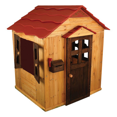 Kidkraft - KidKraft Kids Outdoor Playhouse - Kidkraft - Playhouses - 00176 - Get ready for a summer full of outdoor fun and adventure with our Outdoor Playhouse by Kidkraft! This deluxe wooden playhouse gives kids all kinds of fun things to do - play in the sand put on a puppet show relax on the patio - and they don't even have to leave the backyard!