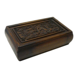 Golden Lotus - Hcs696-13 Chinese Huali Rosewood Handcrafted Storage Box - This is a decorative box made of Huali rosewood and crafted into rectangular shape with pull out lid.